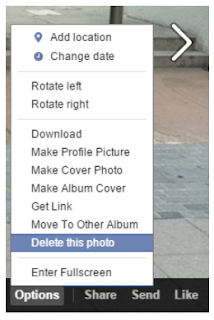 Deleting Photos On Facebook