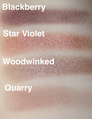 mac blackberry star violet woodwinked quarry swatch