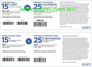 Sears coupons march 2017
