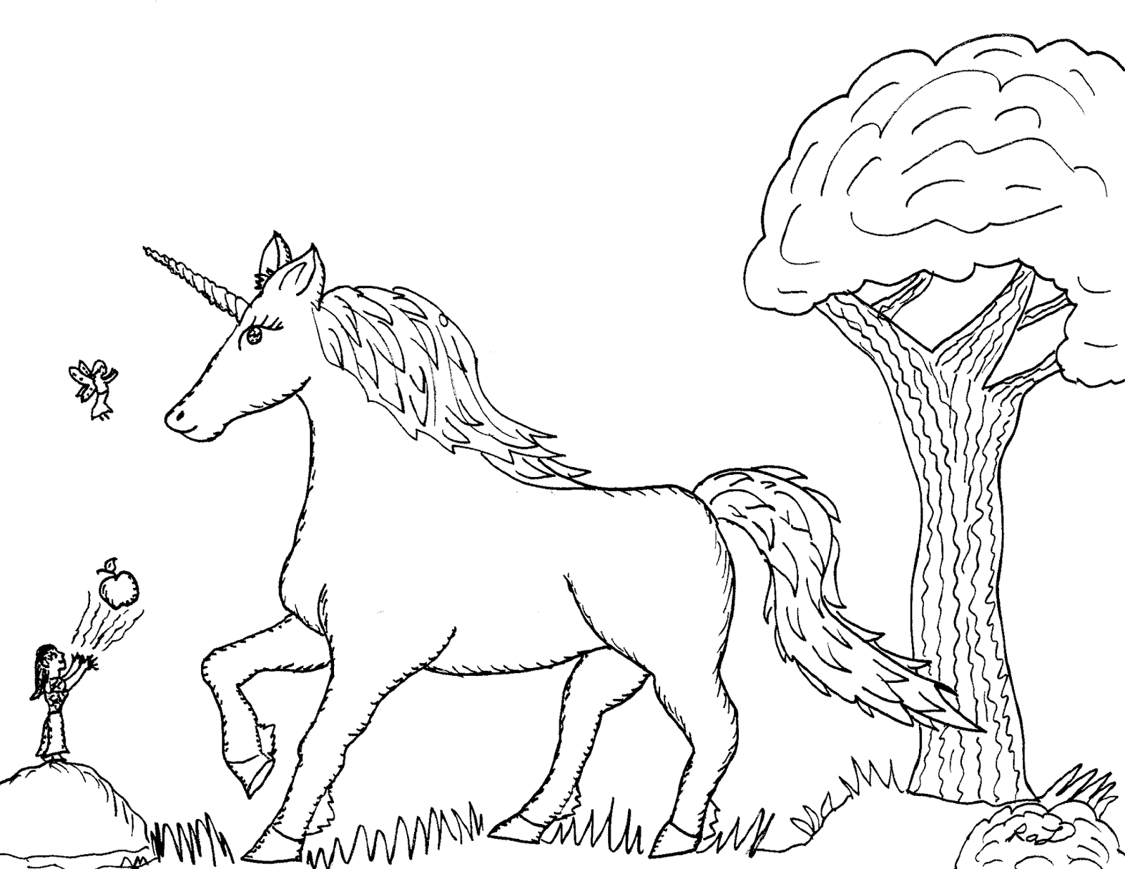 Robin\'s Great Coloring Pages: Unicorn, Elf, and Fairy