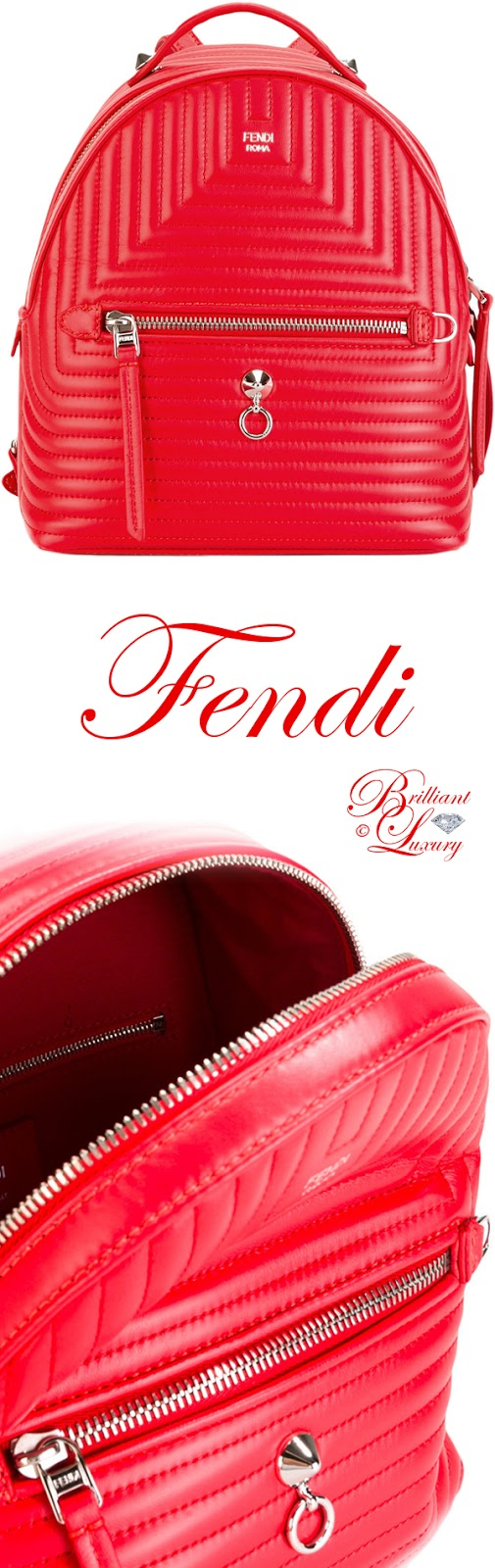 Brilliant Luxury ♦ Fendi backpack