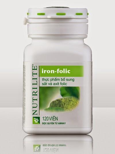 Nutrilite Iron Folic Bổ Sung Sắt và A xít Folic của Amway