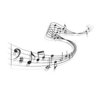 Notas musicales en pentagrama
