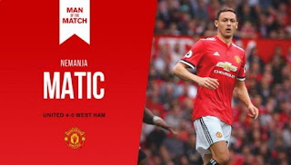 Nemanja Matic Man of the Match Manchester United vs West Ham