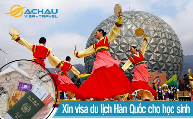 Học sinh xin visa du lịch Hàn Quốc