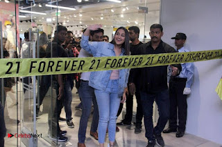 Actress Sonakshi Sinha Pos in Denim Jeans at Forever 21 Shop Launch at Express Avenue Mall  0011.jpg