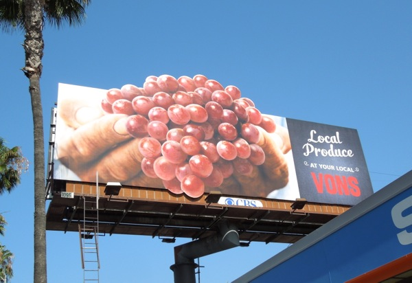 Vons grapes special extension billboard