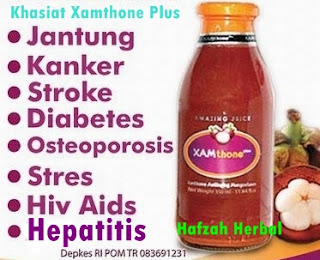 Obat Herbal Hepatitis Xamthone Plus murah di Hafzah Herbal