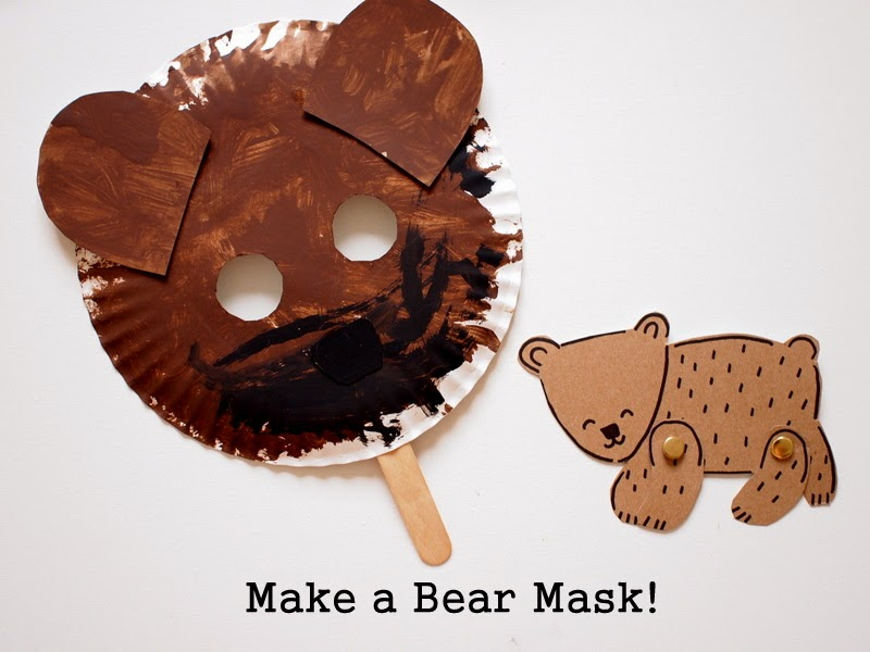Make a paper plate bear mask
