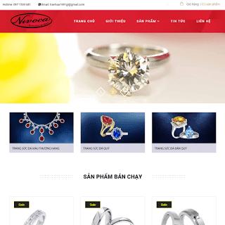 template blogspot bán hàng nhẫn cưới