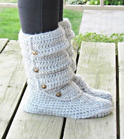 Woman's Slouch Boots Crochet