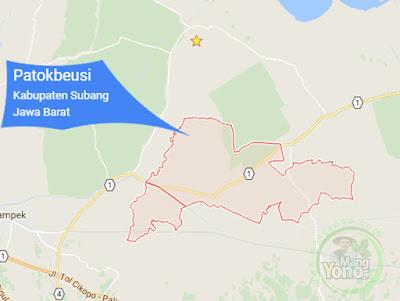 PETA : Kecamatan Patokbeusi, Kabupaten Subang, Jawa Barat