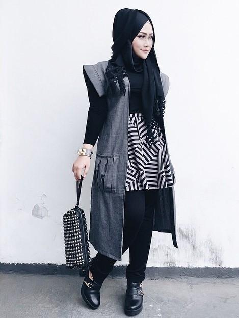 model hijab remaja casual