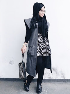 model hijab remaja casual