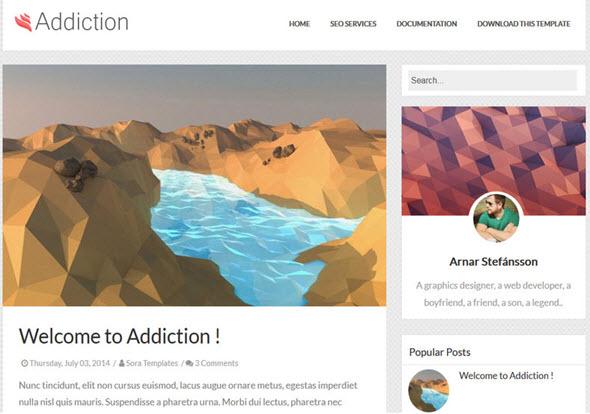 addication blogger template, seo dostu blogger teması, responsive blogger teması, ücretsiz blogger teması