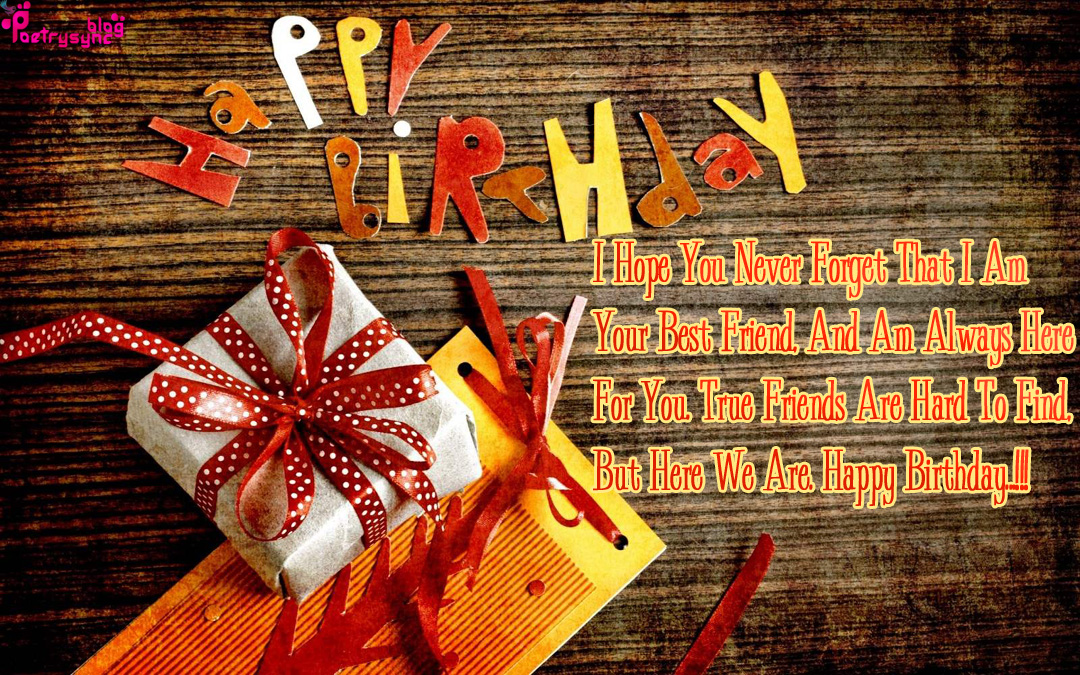 Happy Birthday Card Images With English Quotes For Friend Heart