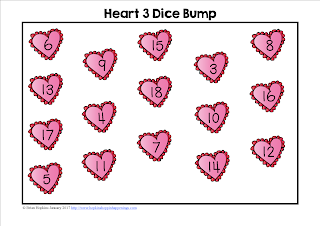FREEBIE Adding 3 Numbers Bump Valentine Theme with Hearts