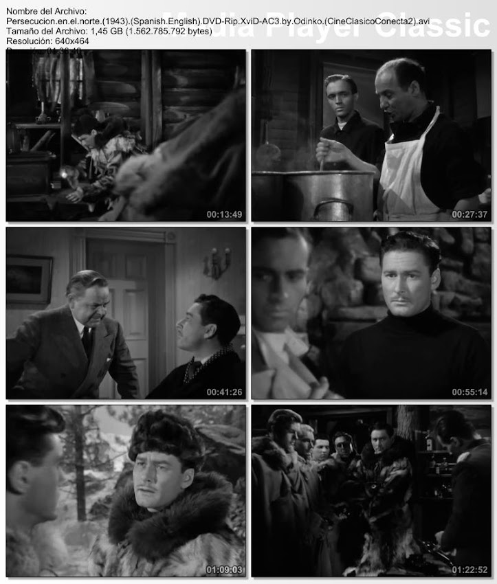 Persecución en el Norte   1943   Northern Pursuit   Secuencias de la película