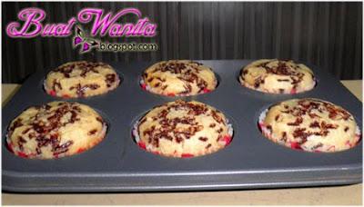 Resepi Muffin Vanilla Coklat Rice Sukatan Cawan. Cara Buat Muffin Vanilla Chocolate Rice Simple Senang Sedap