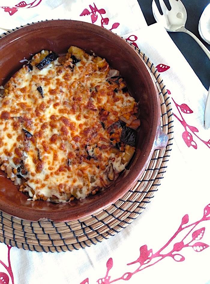 Receta de gratinado de verduras y legumbres