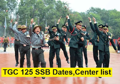 TGC 125 SSB Dates, Center Allotment and Merit List