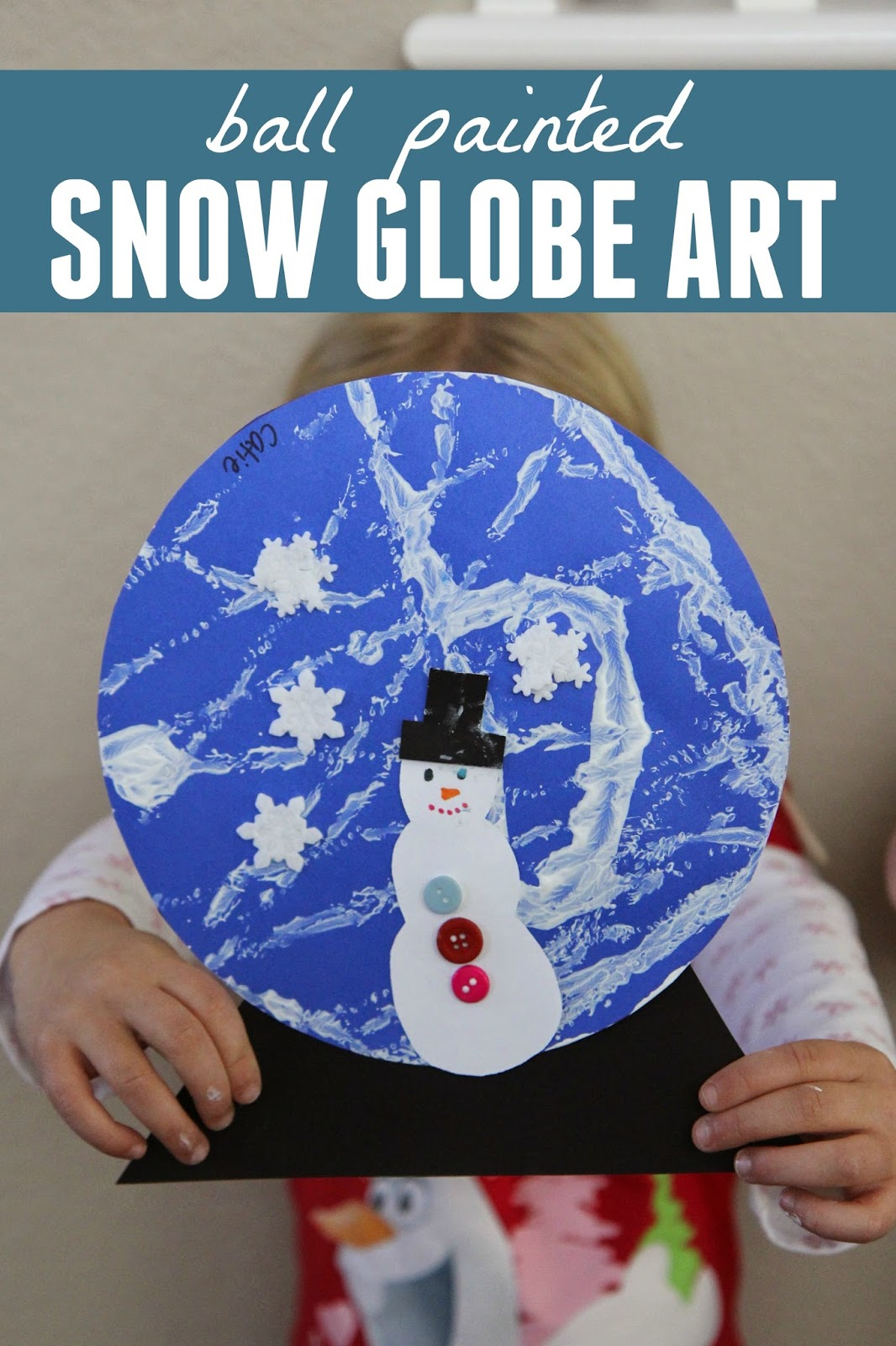 Toddler Approved Ball Painted Snow Globe Craft
