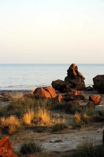 Fossil, park, dholavira, sunrise, view, rocks, weathered, sedimentary