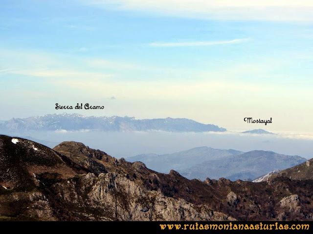 Ruta Retriñon: Desde Vega Valencia, vista del Aramo y Mostayal