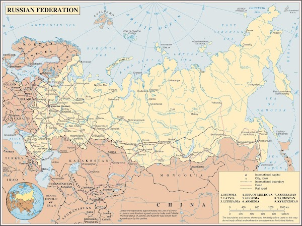 Northern Asia Russia Map