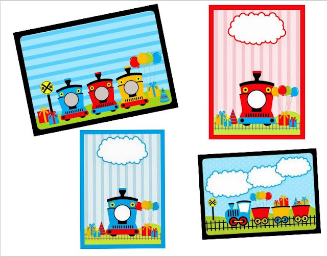 Train Party: Free Printable Invitations.