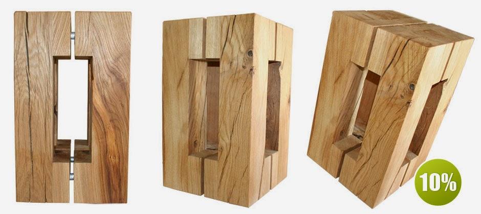 wohnkantine wohnideen vom holzm belkontor holzhocker eiche. Black Bedroom Furniture Sets. Home Design Ideas