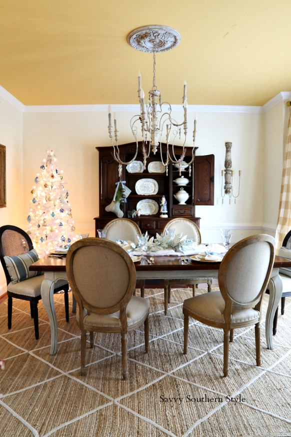 french country dining room Savvy Southern Style : Snowy Sundays in my French Country Dining Room french country dining room