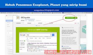 SEO Tools untuk Blogger ? Pakai SEOquake