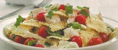 Chicken Tomato with Fresh Mozzarella Ravioli Salad Recipe