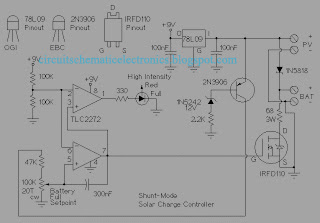 Solar Charger Controller Circuit Diagram