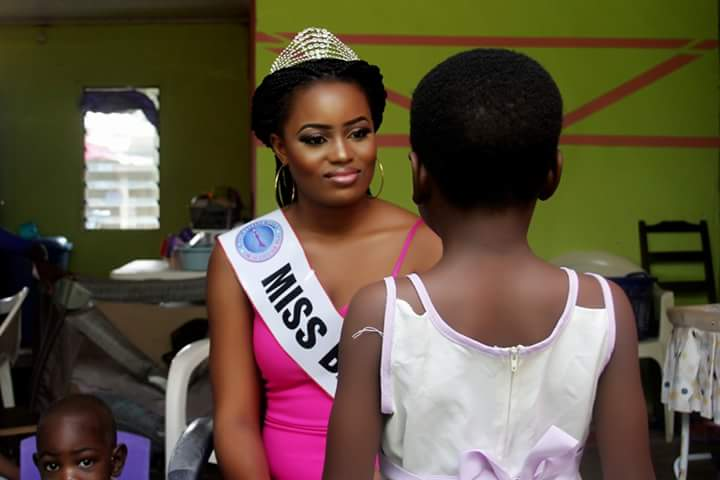 Beauty queen in orphanage