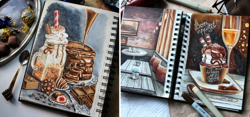 00-stepashkina-Cakes-Pastries-and-Drinks-Food-Art-Drawings-www-designstack-co