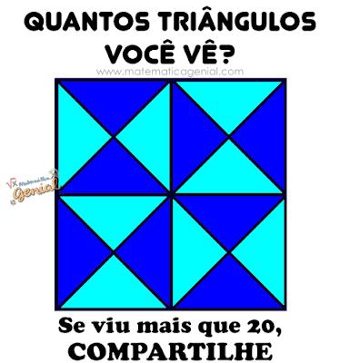 Teste: Quantos triângulos você vê?