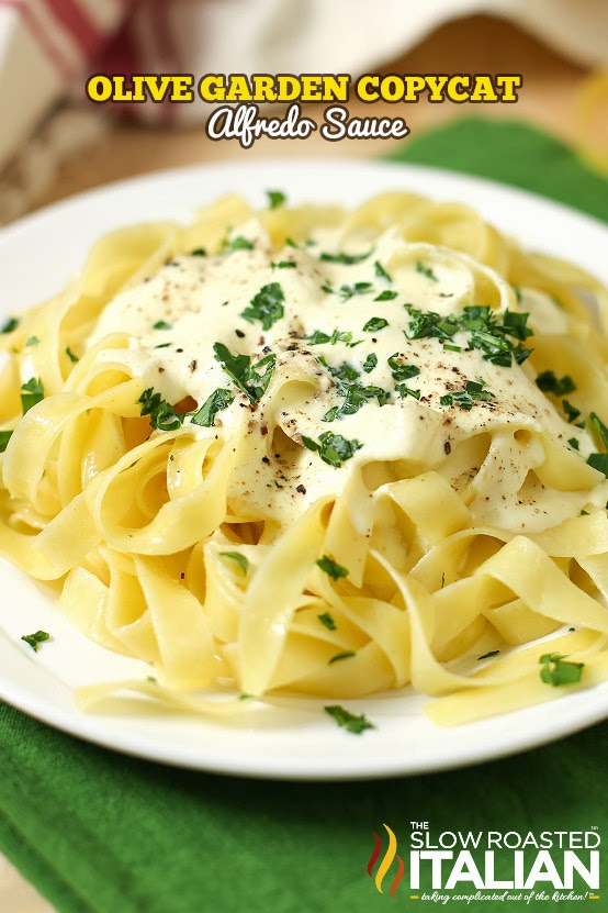 The Slow Roasted Italian Printable Recipes Olive Garden Copycat Alfredo Sauce