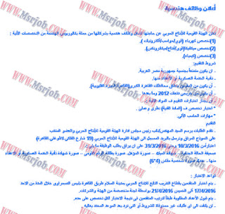 وظائف وزارة الانتاج الحربي 2016