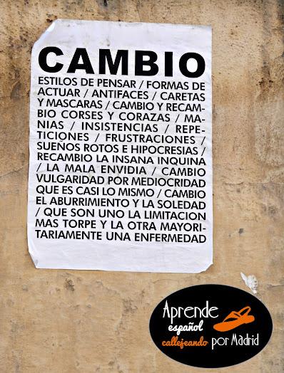 Aprende español callejeando por Madrid : Buenos tiempos para la lírica