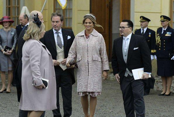 Crown Princess Victoria, Princess Estelle, Princess Sofia, Princess Madeleine Valentino Long Sleeve Floral Print Silk Dress