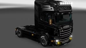 Black Monster skin for Scania RJL