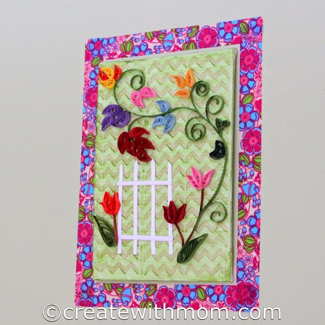 Create With Mom: Quilled Wall Art on Canvas