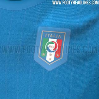 Detail jersey Italia home timnas untuk Euro 2016 gambar desain render terbaru musim depan di enkosa sport
