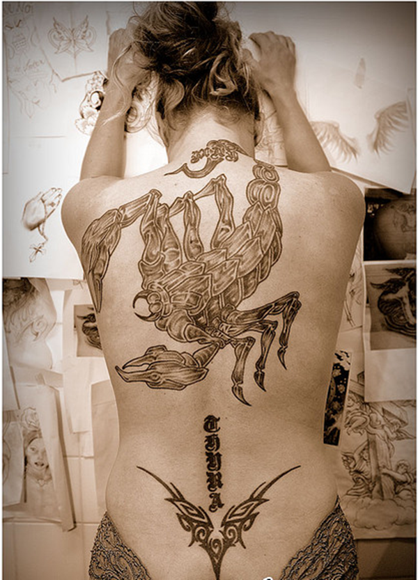 Pictures of Scorpion Tattoo Designs For Women