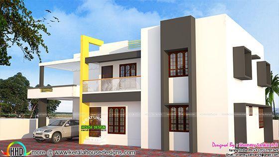 278 sq-yd simple modern home