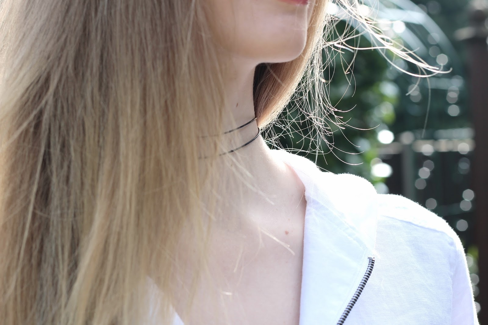 DIY black thin double choker