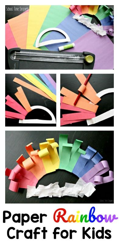 Rainbow Paper Craft - Making a Rainbow Wreath