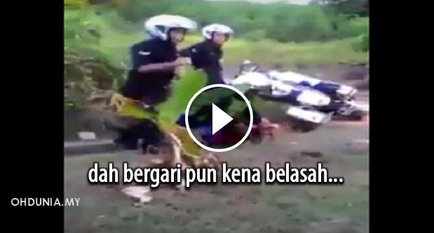Video: Kecoh, Polis Dirakam Belasah Suspek Sudah Bergari